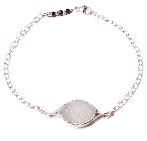 Sarah Dunn Druzy Sterling Silver Bracelet