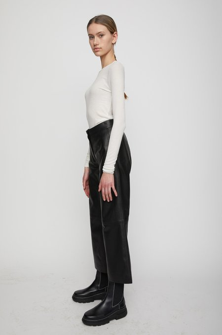 Just Female Roxy Leather Trousers - BLACK