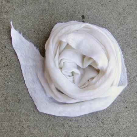 MINT Italian Cashmere Jersey Shawl - White