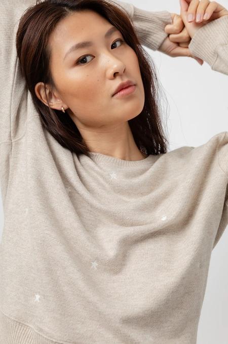 Rails Ramona Heather Brown Sweatshirt - Embroidered Stars