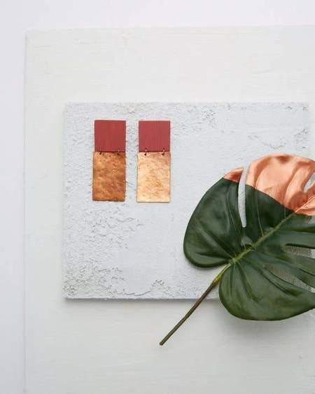 Mafe Designs Square Earrings - Blush