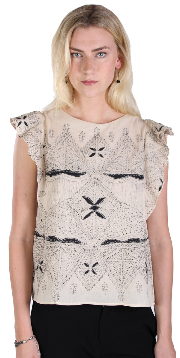 Hoss Intropia Flutter Sleeveless Top