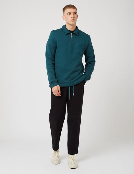 Bhode Everyday Half-Zip Collar Loopback Sweatshirt - Green