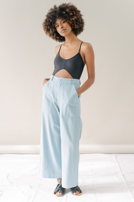 REIFhaus Mara Pant in Light Indigo Denim