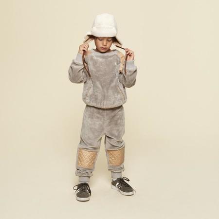Kids A Monday In Copenhagen Percy Teddy Sweatshirt - Grey