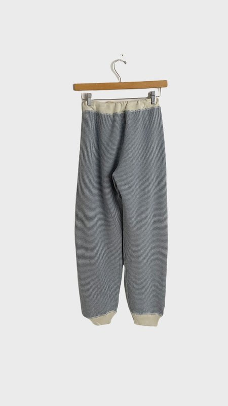 The Great. The Cropped Sweatpant - Salt Water Stripe