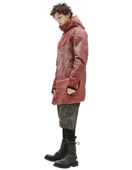 Isaac Sellam Leather Parka - Red