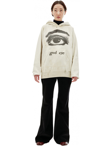 Saint Michael God Eye Printed Hoodie