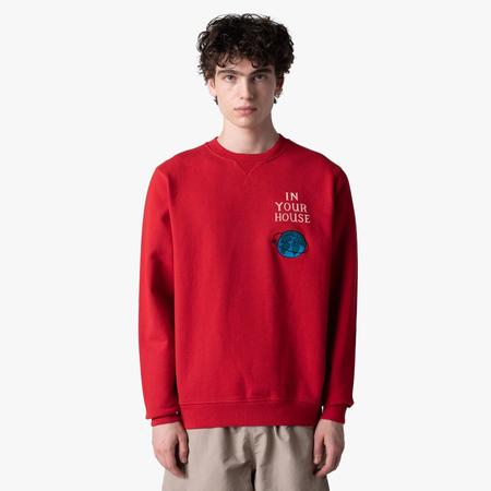 by Parra Systems Logo Crewneck sweater - Red