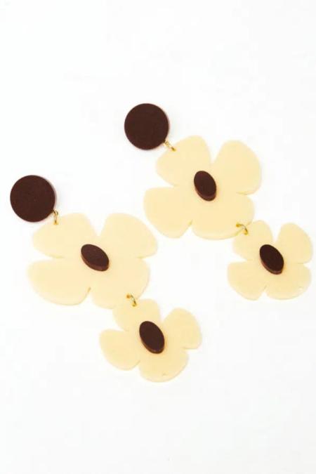 Rita Row Espina Earrings - Cream/brown