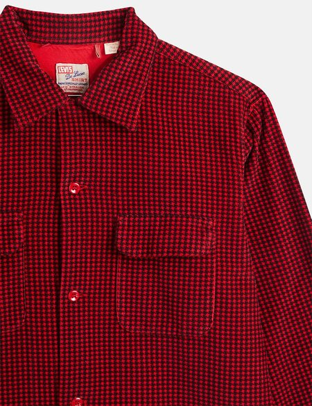 Levis Vintage Clothing Deluxe Check Shirt - Dogtooth Red