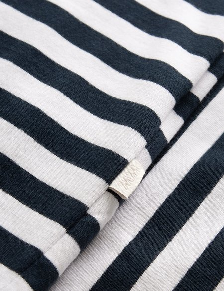 Wood Wood Sami Classic Stripe T-Shirt - Navy Blue