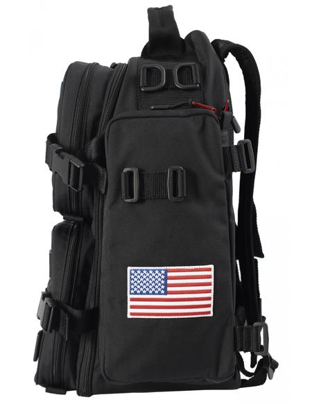 Balenciaga Space Backpack - Embroidered NASA/Black