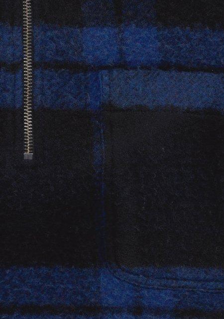 Schnayderman's Half Zip Boiled Wool Sweater - Check