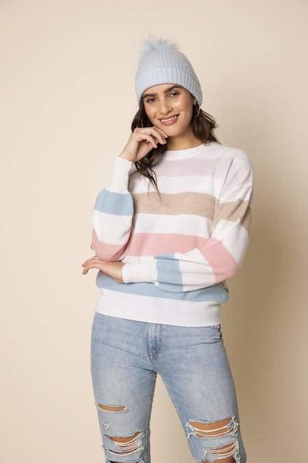 27 Miles Malibu Dominique Striped Sweater - Cloud
