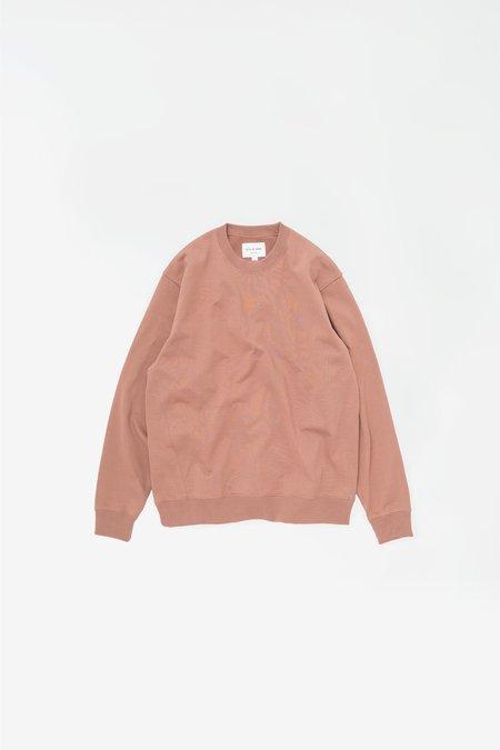 Still By Hand Diagonal seam sweatshirt - brick