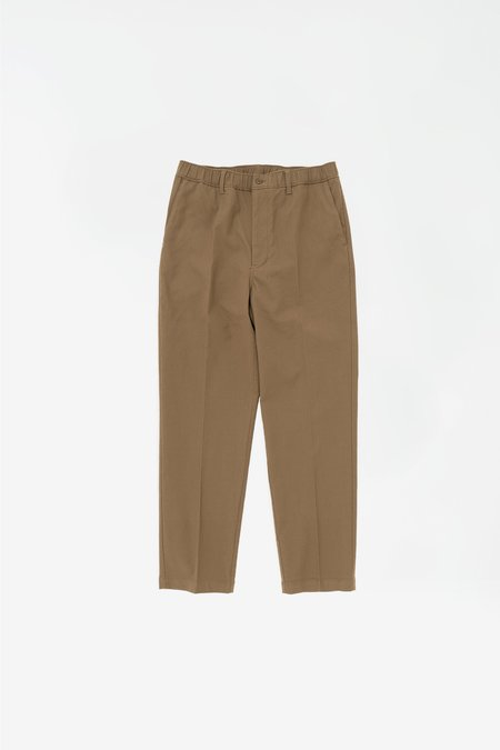 Still By Hand W/N slim tapered pants - camel