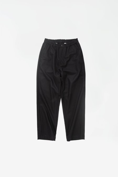 Still By Hand Washed melton pants - black