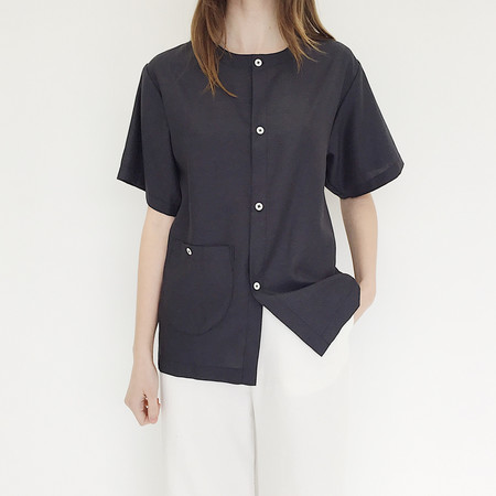 Unisex Johan FAAN Pocket Top - Faded Black