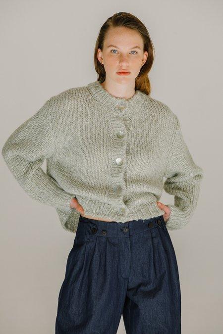 Mijeong Park Melange Knit Cardigan - Light Green