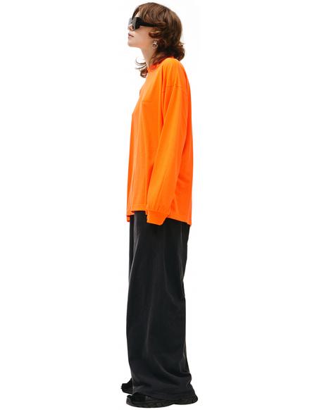 Balenciaga Longsleeve With Embroidered Logo - Orange