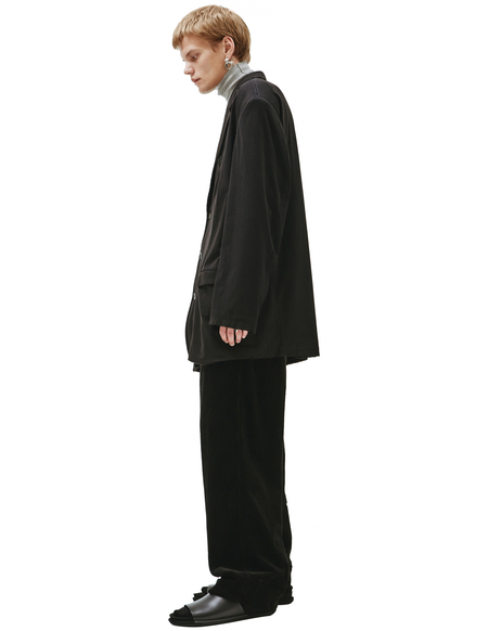 Balenciaga Cotton Oversized Blazer - Black