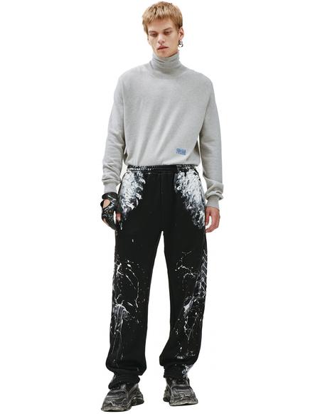 Balenciaga Contrast Painted Joggers - Black