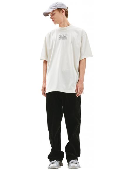 Balenciaga Beige embroidered t-shirt - Beige