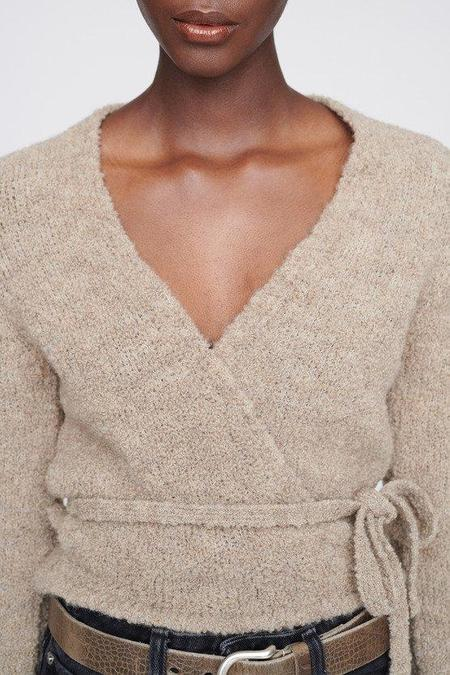 Our Legacy Bouclé Wool Wrap Knit sweater - Beige