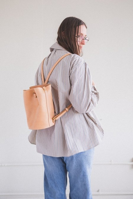 Lindquist Small Cyl Vachetta Leather Backpack - Pink
