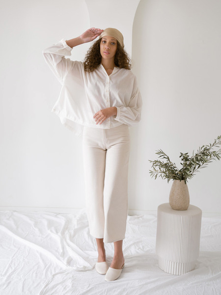 LAUDE the Label Francoise Top - Ivory