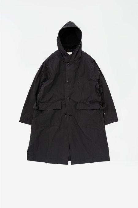 Still By Hand Hooded coat - black