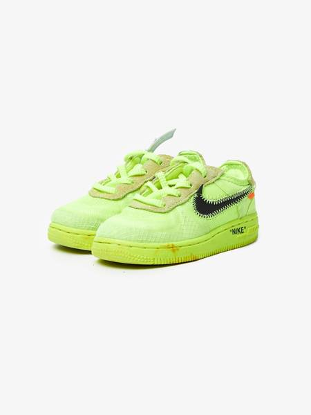 [Pre-Loved] Off-White X Nike Neon Green Kid Size Sneakers