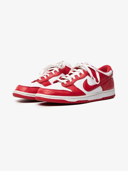 PRE-LOVED Nike Male Dunk Low SP Leather Sneakers - RED