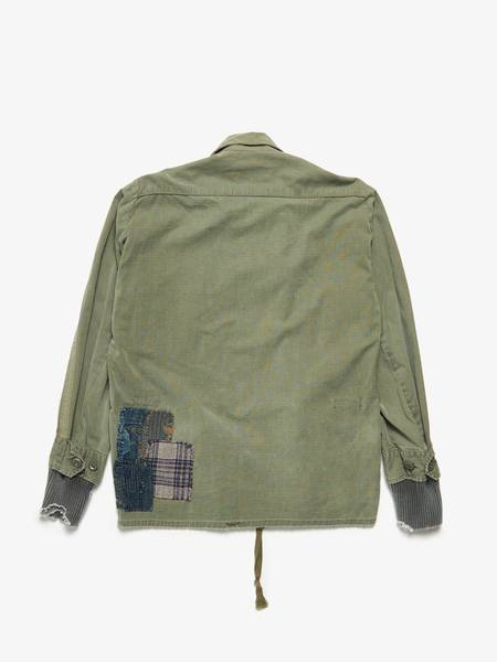 [Pre loved] Greg Lauren Jungle Track Cotton Jacket - Khaki Army