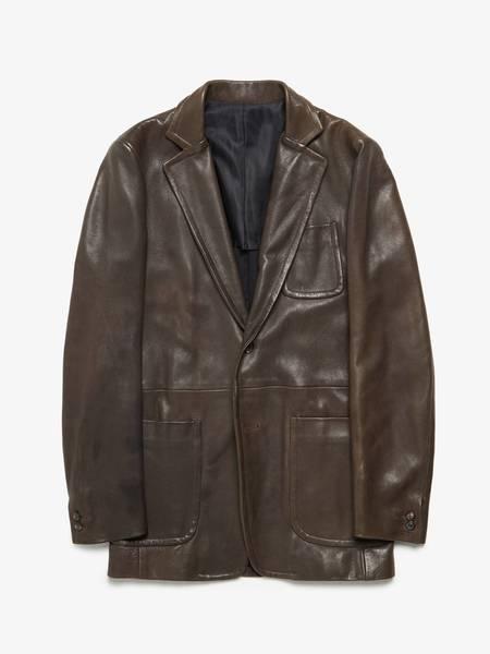 [Pre loved] Maison Margiela  Leather Blazer Jacket - Brown