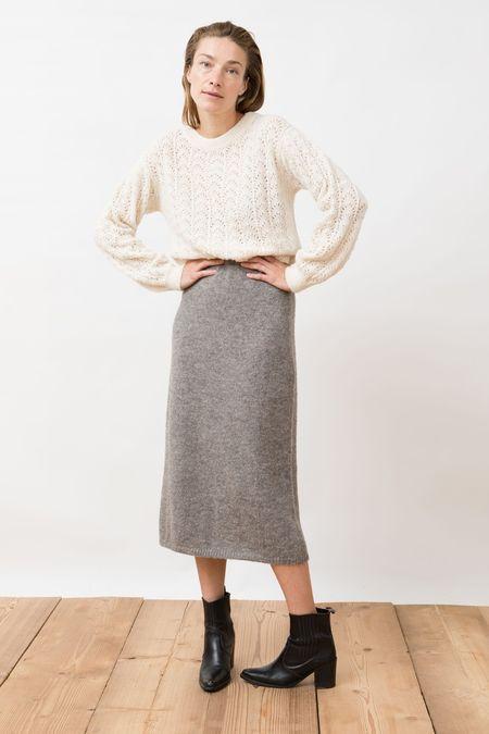 Jungle Folk Knit Skirt - Pierre Undyed Grey