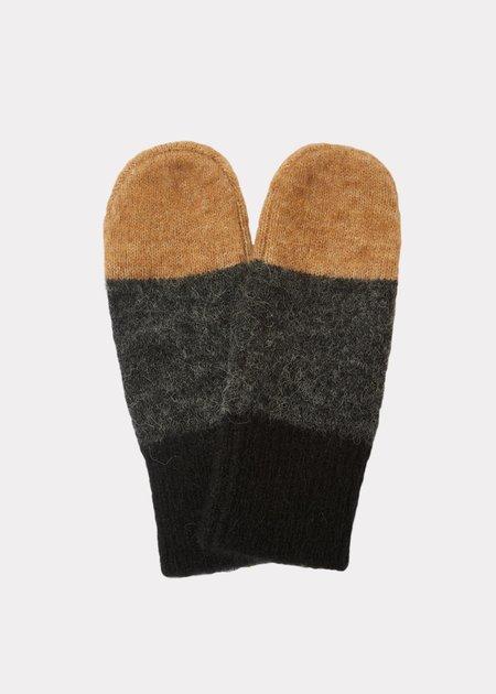 Kids Caramel Carme Child Mittens gloves - Black Camel