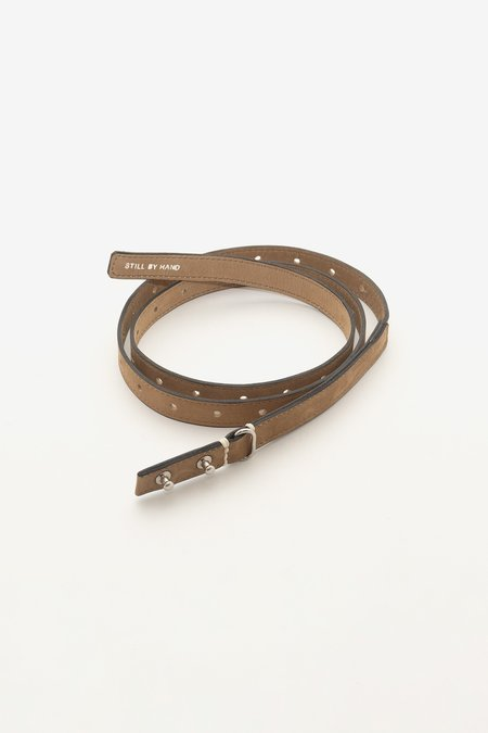 Still By Hand Leather belt - camel