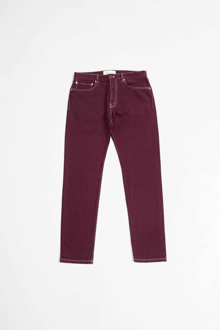 Jeanerica Tapered jeans - burgundy