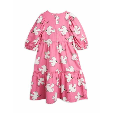 kids mini rodini dove puff sleeve dress - pink
