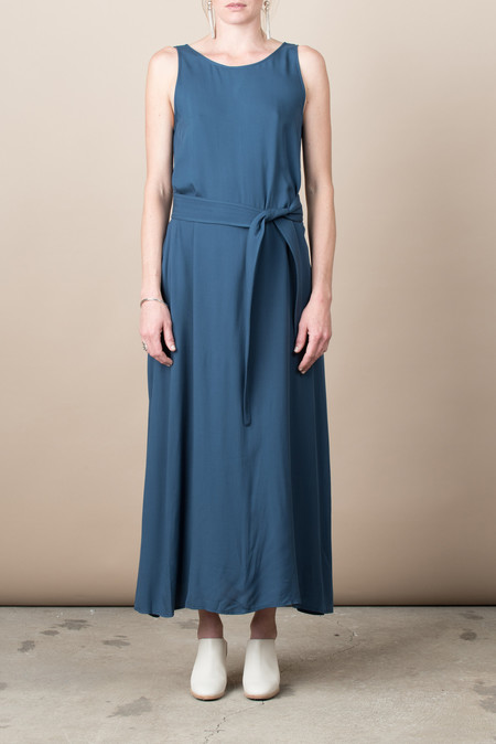 Jesse Kamm The Palma Dress In Nautical Blue