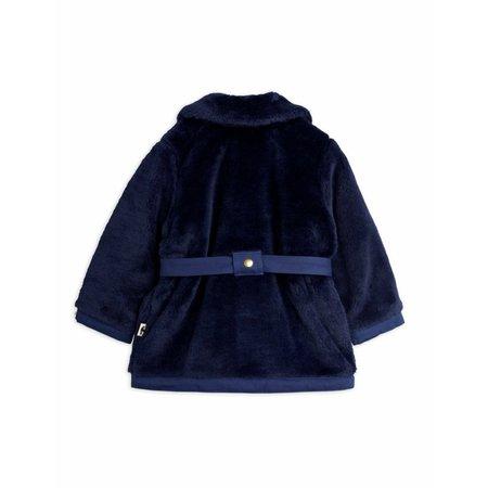 kids mini rodini faux fur jacket - navy