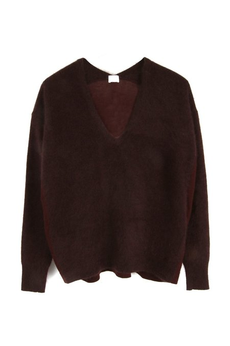 C.T. plage V Neck sweater - Bordeaux