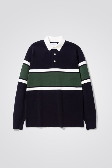 Norse Projects Ruben knitted polo - dark navy