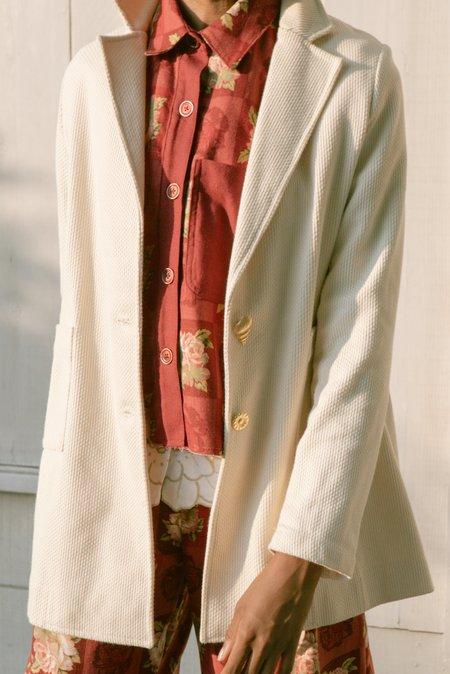 Jess Meany Sashiko Unlined Blazer - Natural