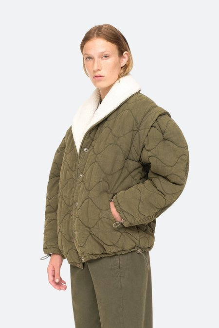 Sea NY Layla Quilted Puffer Jacket - Army