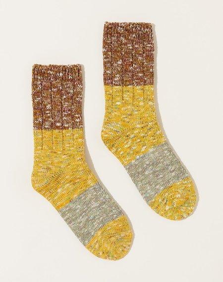 Unisex Kapital 56 Yarns Gogh Stretch Socks - Yellow