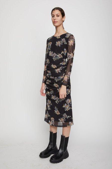 Just Female Anlia Dress - Black Paint Art