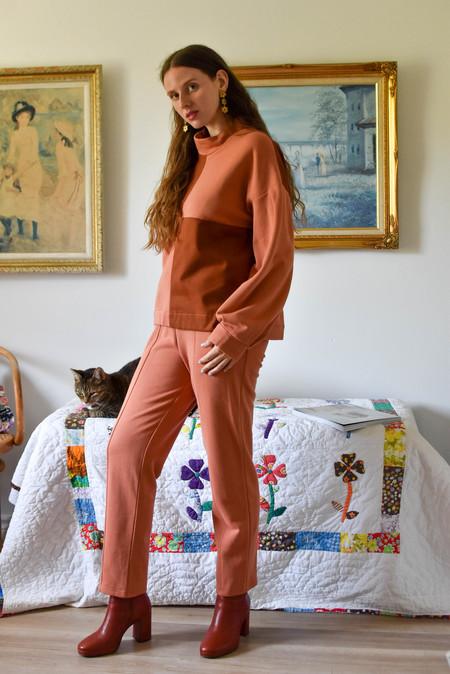 Eve Gravel Togo Pants - Terracotta/Rose